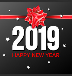 2019 happy new year background sign 2019 vector image