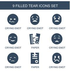 9 tear icons vector