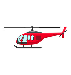 a cartoon helicopter vector image