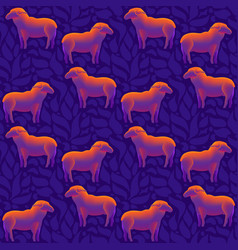 a flock of sheep seamless pattern vector image