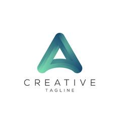 a letter logo modern gradient color logo vector image