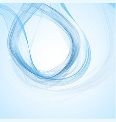 abstract background with blue waves eps vector image
