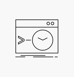 admin command root software terminal line icon vector image