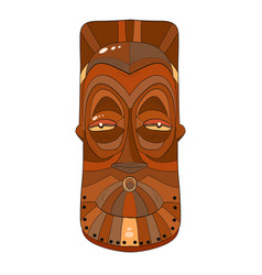 african wooden mask on a white background vector image