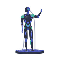 android robot flat humanoid vector image