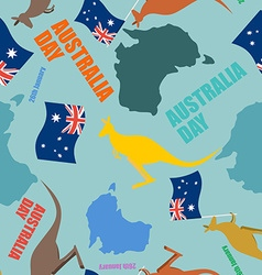 Australia day seamless pattern Festive backdrop vector image