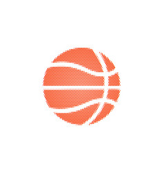 basketball ball halftone on a white background vector image