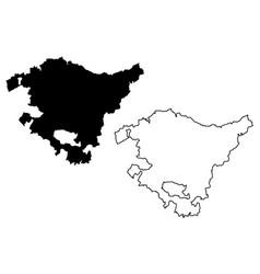 Basque country map vector