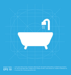 bath tub icon vector image