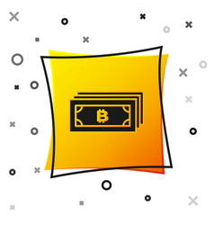 black cryptocurrency concept bitcoin in circle vector image