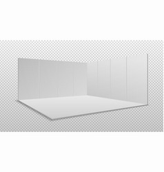 Blank display exhibition empty square event stand vector