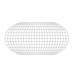Blank world grid of meridians and parallels vector