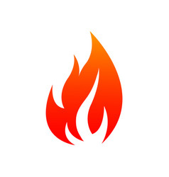 blazing campfire isolated burning fire vector image