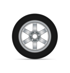 car wheel with shadow vector image