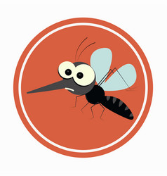 caution area with mosquitoes icon design vector image