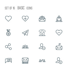 Communication icons set with publication business vector