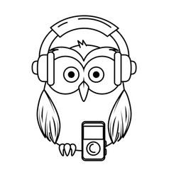 Cute little owl bird character vector