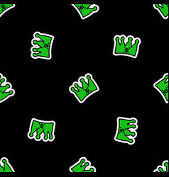 Cute punk crown flame background pattern vector