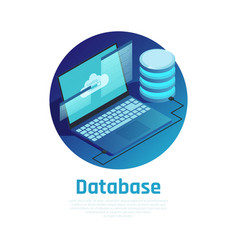 database isometric design concept vector image