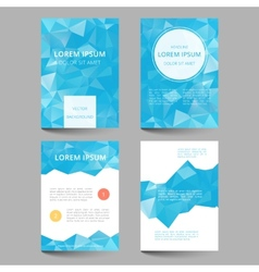 Document template low poly design vector