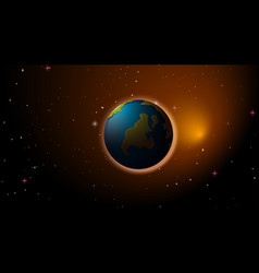 Earth in space background vector