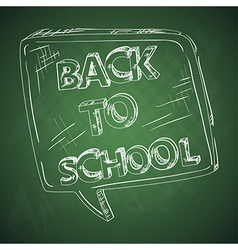 Education back to school chalkboard social bubble vector image
