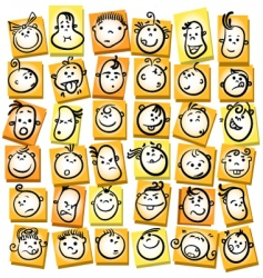 Emotions and expression cartoon collection vector