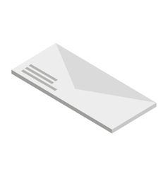 envelope isolated icon design vector image