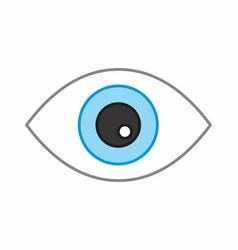 eye colorful vector image