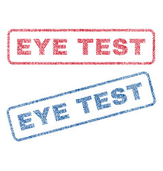 Eye test textile stamps vector