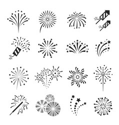 fireworks firecracker festival event and holiday vector image