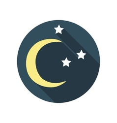 Flat Design Concept East Moon with Stars Wit vector
