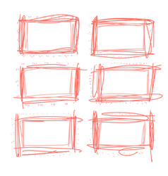 frames in doodle style vector image