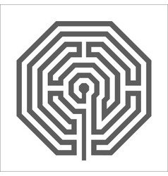 Hexagonal heathen Labyrinth Symbol vector
