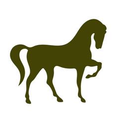 horse silhouette icon vector image