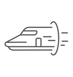 Hyperloop thin line icon technology and transport vector