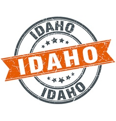 Idaho red round grunge vintage ribbon stamp vector