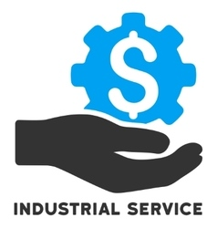 Industrial Service Icon With Caption vector