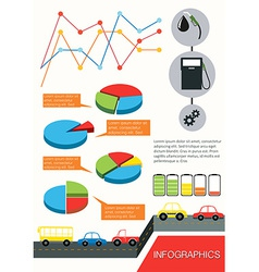 Infographics of the vehicles vector image