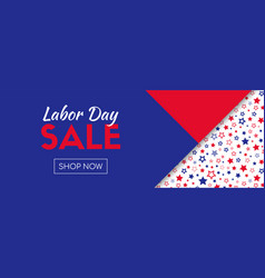 labor day sale shop now long banner vector image