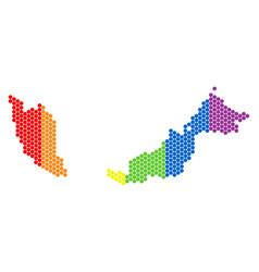 lgbt spectrum dot malaysia map vector image
