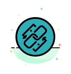 Link chain url connection link abstract flat vector