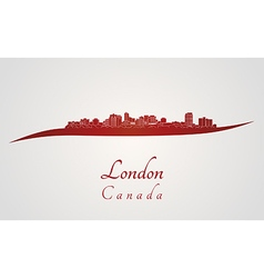 London skyline in red vector