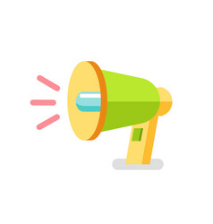 loudspeaker icon colorful 3d megaphone vector image