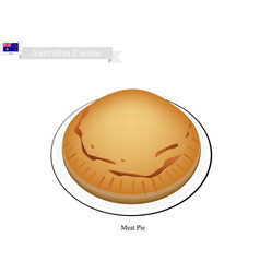 Meat pie the national dish of australia vector