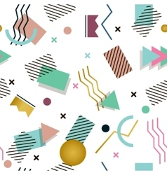 Memphis pattern of geometric shapes for tissue and vector