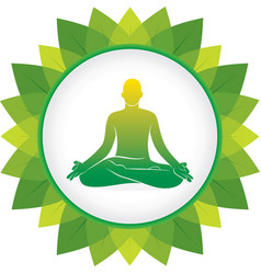 men doing yoga meditation position vector image