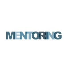 mentoring management business card text modern vector image