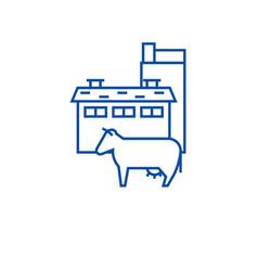 milk industry line icon concept milk industry vector image