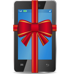 mobile gift vector image